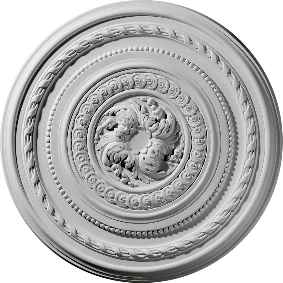 Ekena Millwork Pearl 26.25-in x 26.25-in Polyurethane Ceiling Medallion