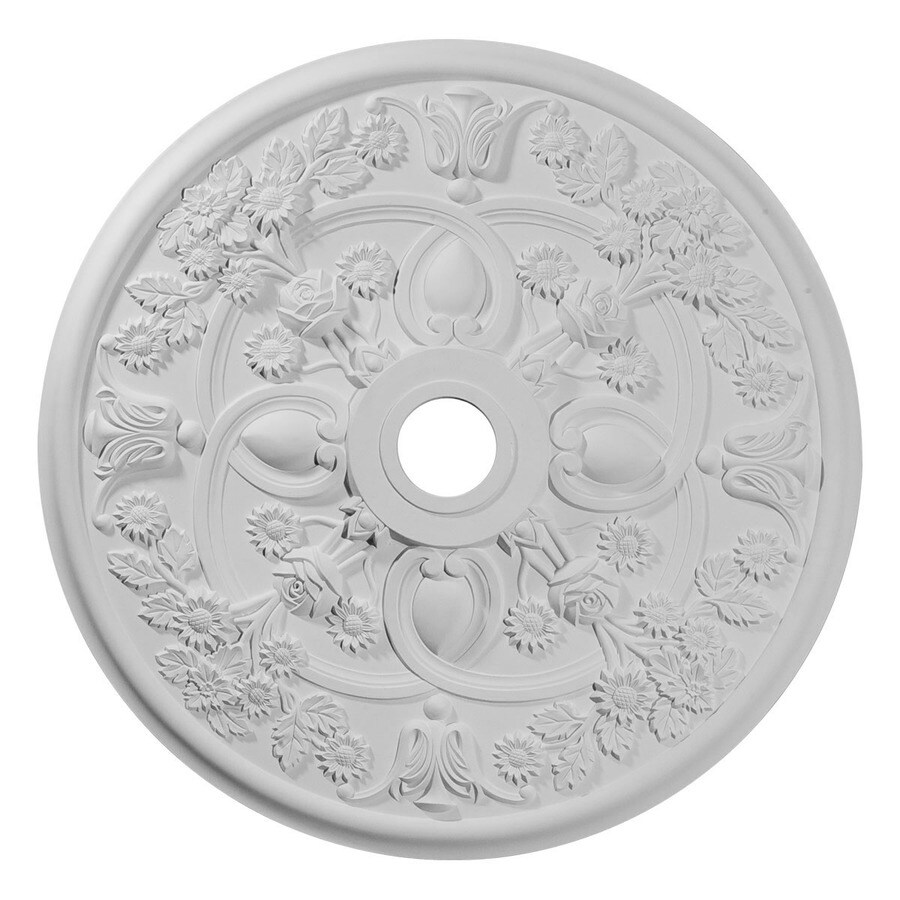Ekena Millwork Rose 30.875-in x 30.875-in Polyurethane Ceiling Medallion