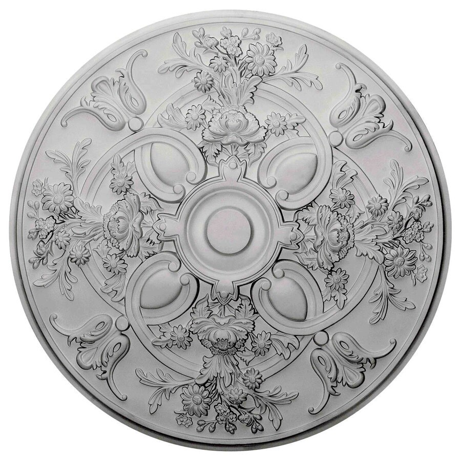 Ekena Millwork Baile 31.25-in x 31.25-in Polyurethane Ceiling Medallion