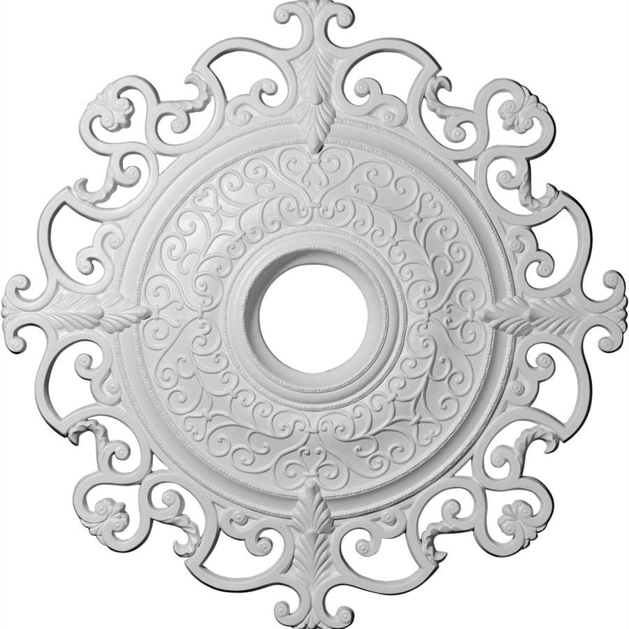 Shop Ekena Millwork Orleans 38.375-in x 38.375-in Polyurethane Ceiling Medallion at Lowes.com