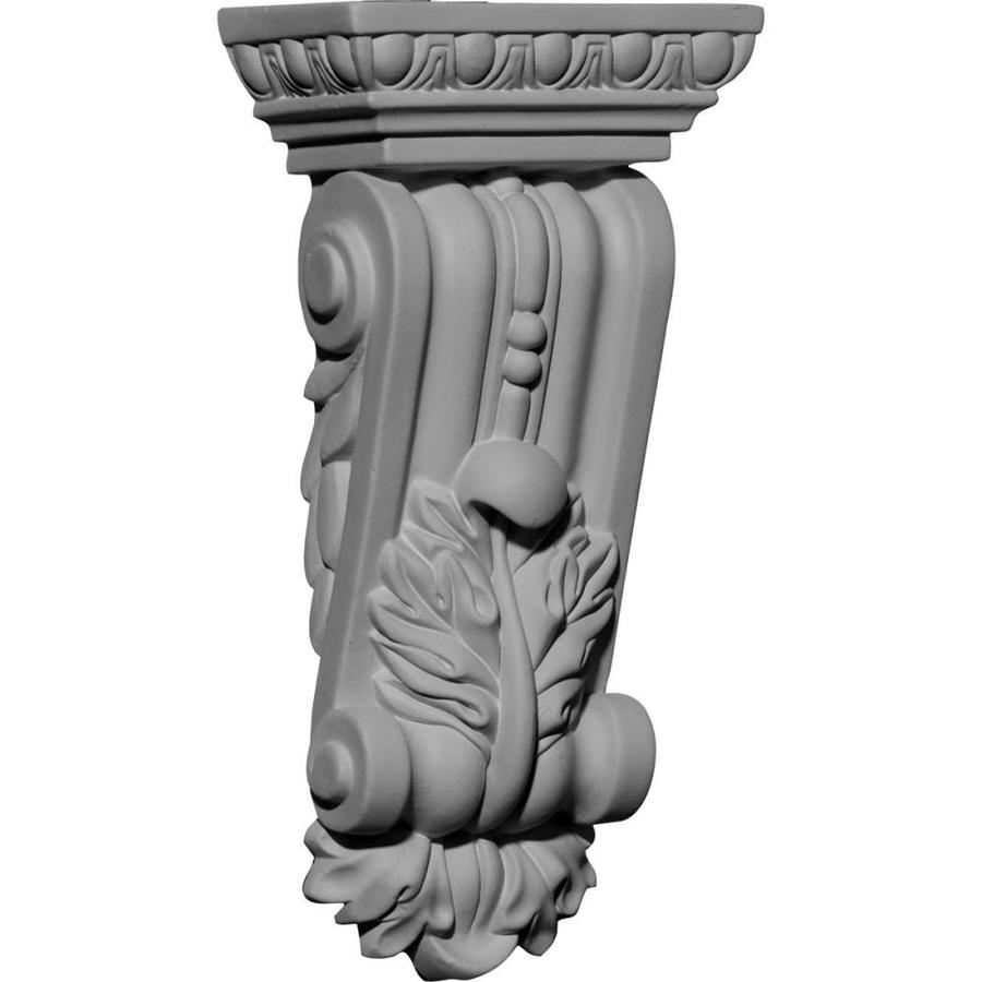 Ekena Millwork 4.625-in x 9.75-in Gorleen Primed Polyurethane Corbel