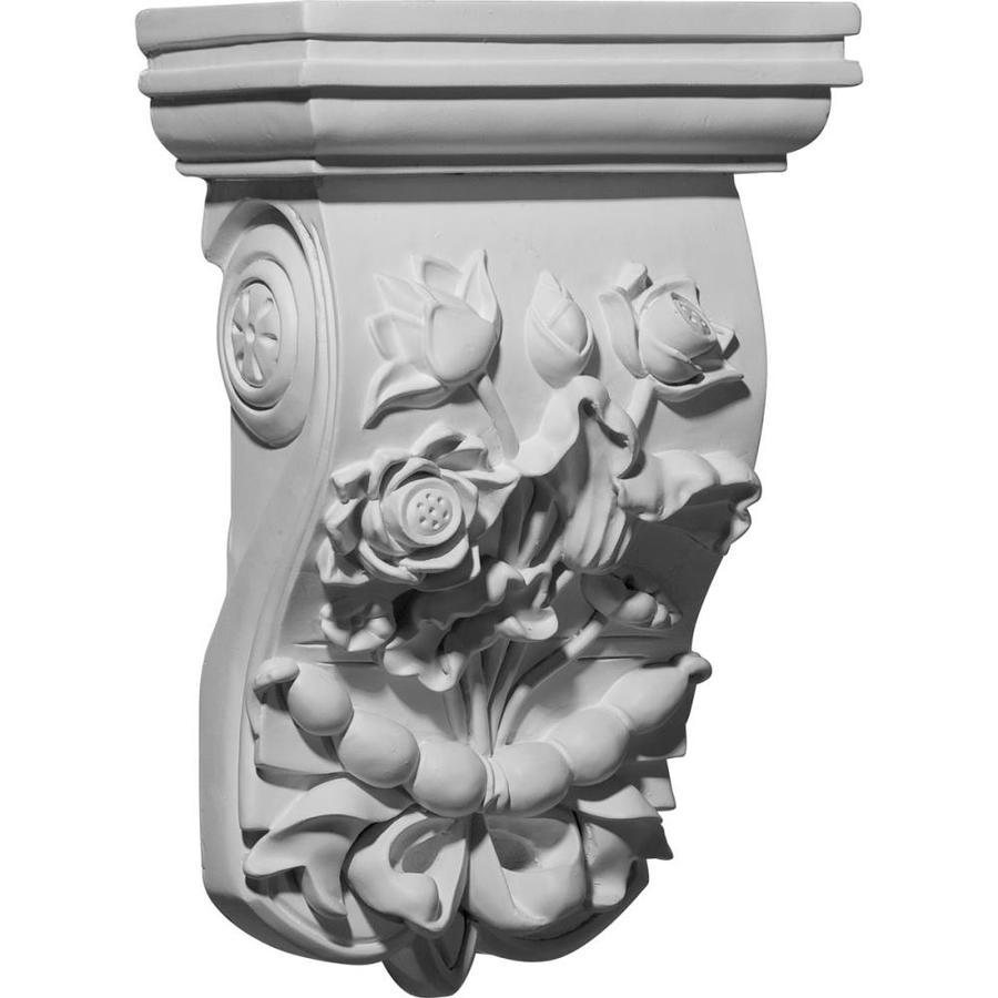 Ekena Millwork 7.75-in x 12.375-in Flower Polyurethane Corbel