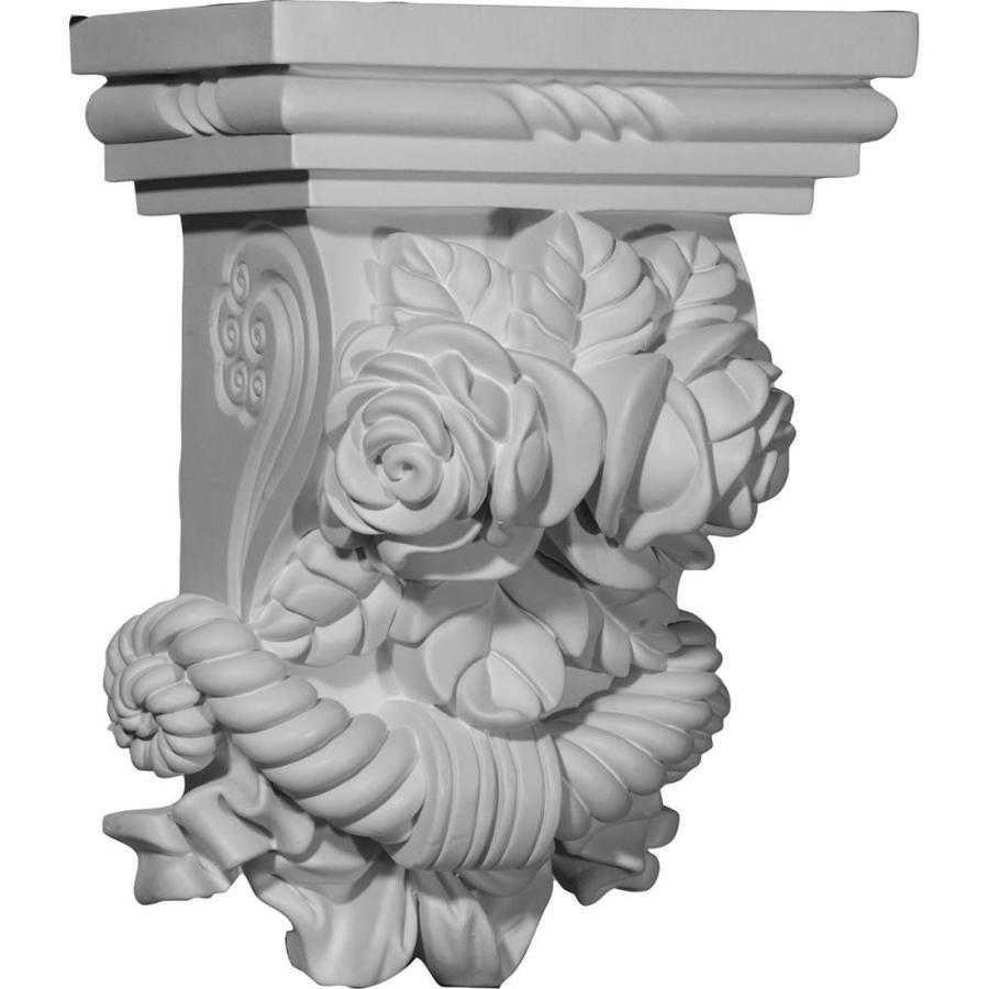Ekena Millwork 8.5-in x 11.375-in Rose Polyurethane Corbel
