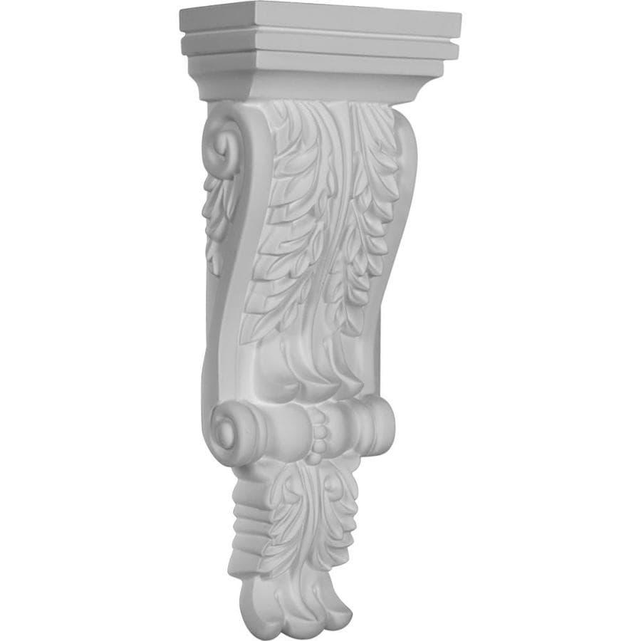 Ekena Millwork 4.75-in x 12.25-in Acanthus Polyurethane Corbel