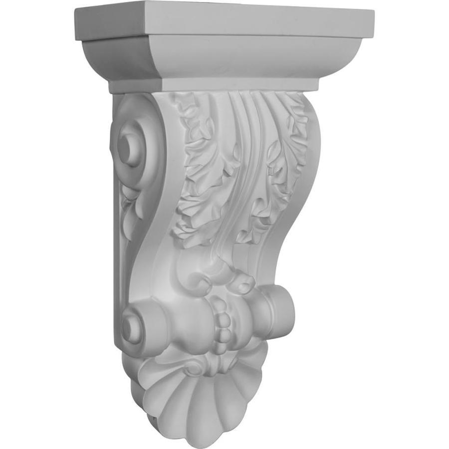 Ekena Millwork 8.5-in x 14.5-in Acanthus Primed Polyurethane Corbel
