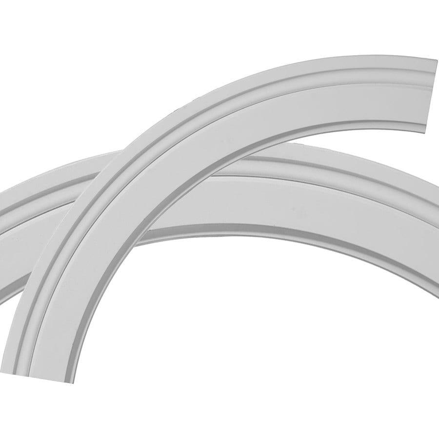 Ekena Millwork Monique 3-in x 29.75-in Quarter Polyurethane Ceiling Ring