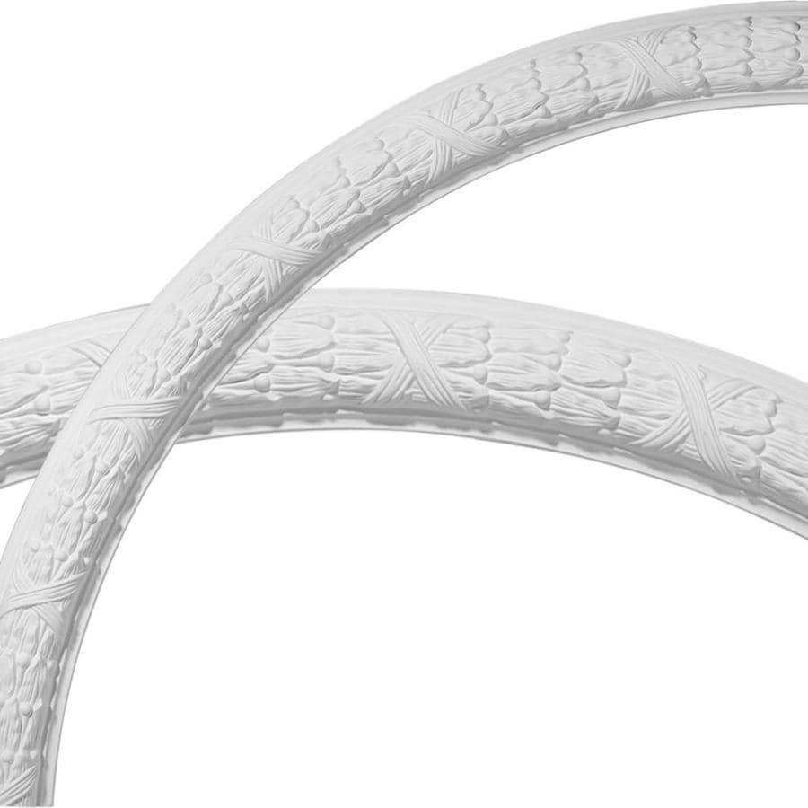 Ekena Millwork Dublin Leaves 3-in x 50-in Quarter Polyurethane Ceiling Ring