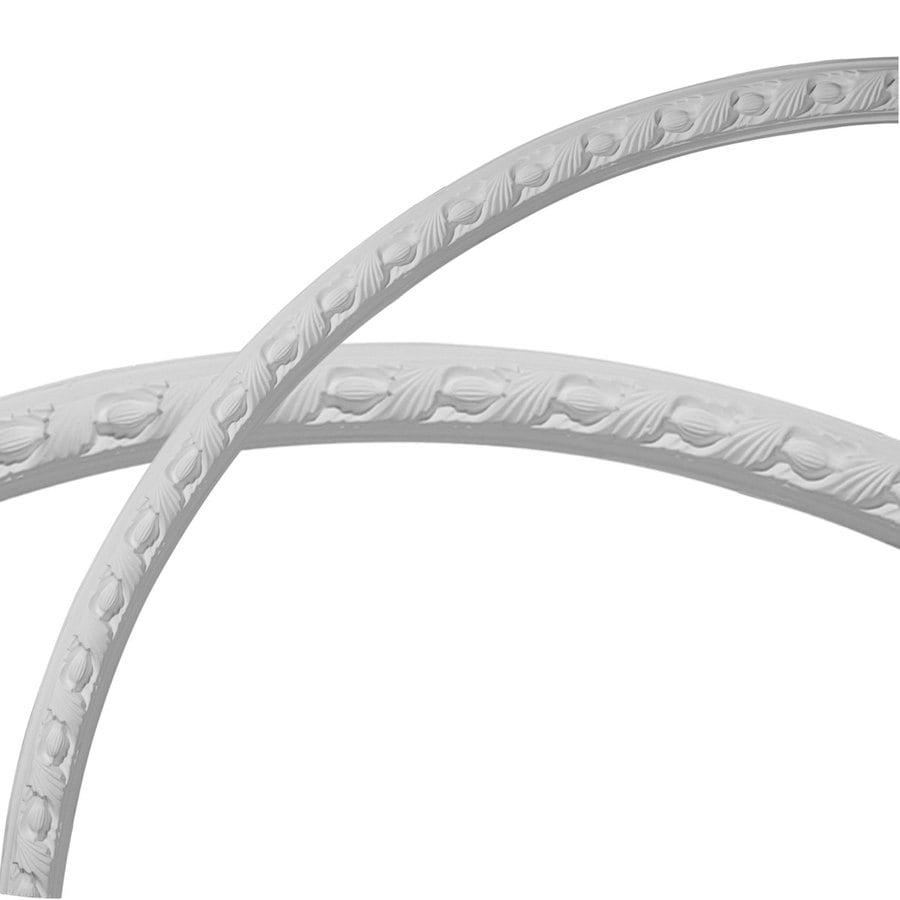 Ekena Millwork Milton Running Leaf 2-in x 54.25-in Quarter Polyurethane Ceiling Ring