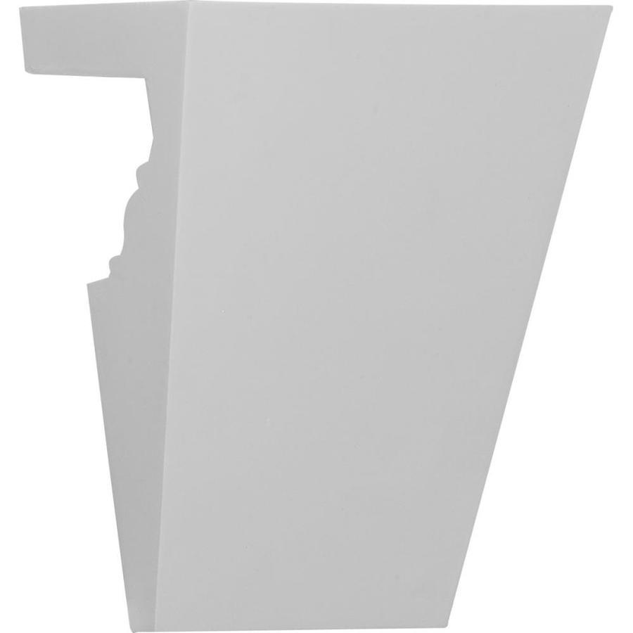 Ekena Millwork Amsterdam 5.75-in x 0.63-in Primed Urethane Keystone Entry Door Casing Accent