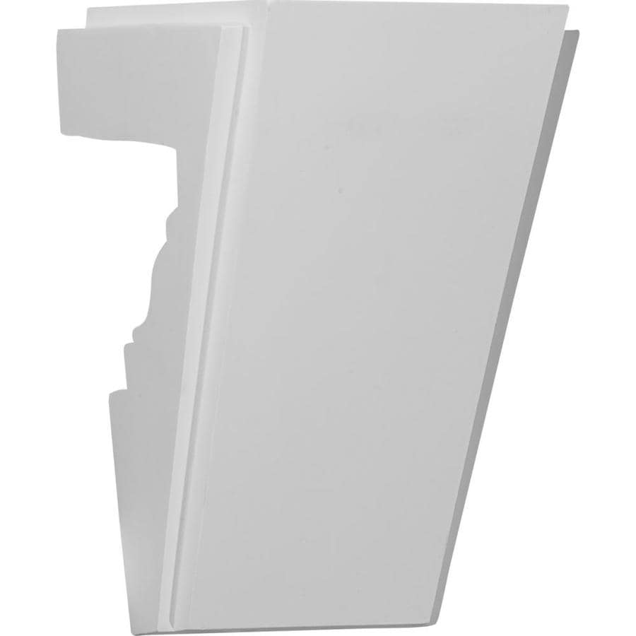Shop ekena millwork elsinore 8 in x primed for Exterior keystone molding