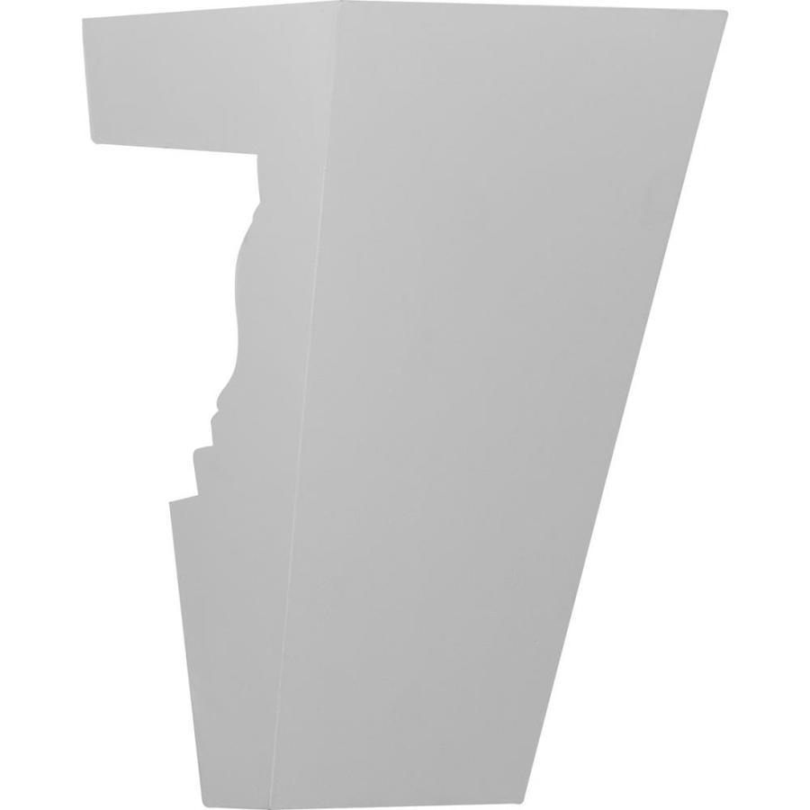 Ekena Millwork Ashford 8-in x 1.13-in Primed Urethane Keystone Entry Door Casing Accent