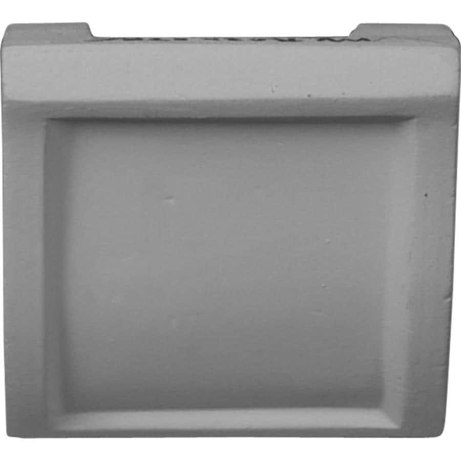 Ekena Millwork 3-in x 3-in Primed Polyurethane Mid Crown Moulding Block