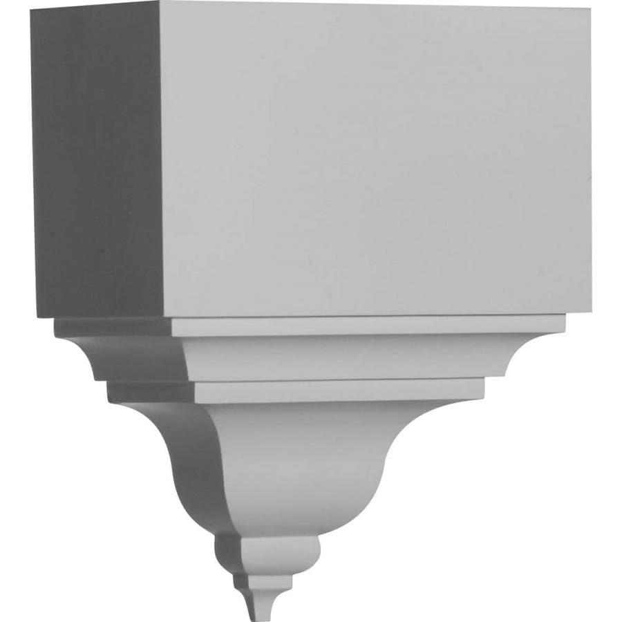 Ekena Millwork 5.5-in x 11-in Primed Polyurethane Mid Crown Moulding Block