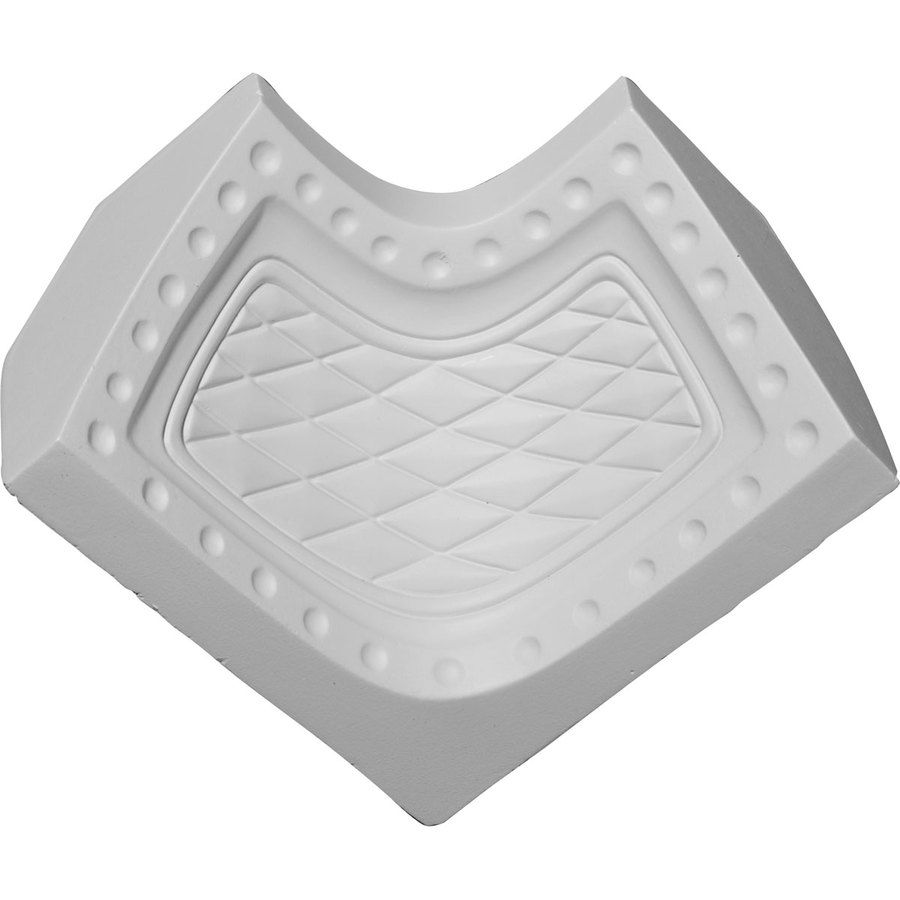 Ekena Millwork 2.5-in x 2.5-in Primed Polyurethane Inside Corner Crown Moulding Block
