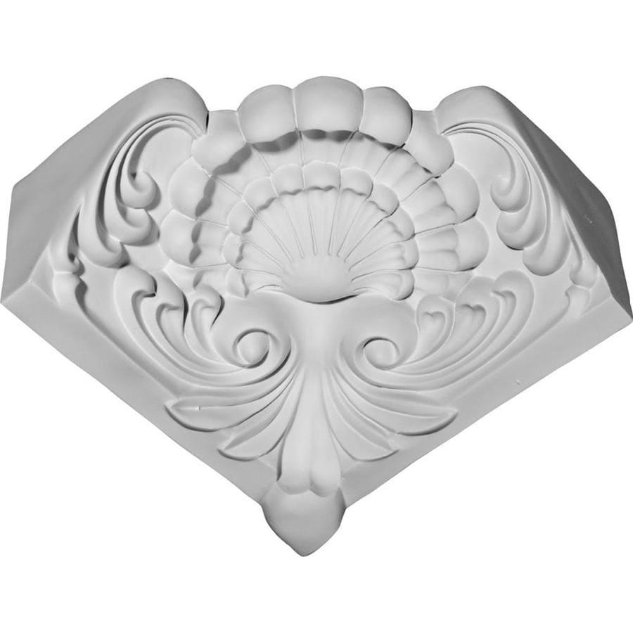 Ekena Millwork 3.125-in x 3.125-in Primed Polyurethane Inside Corner Crown Moulding Block