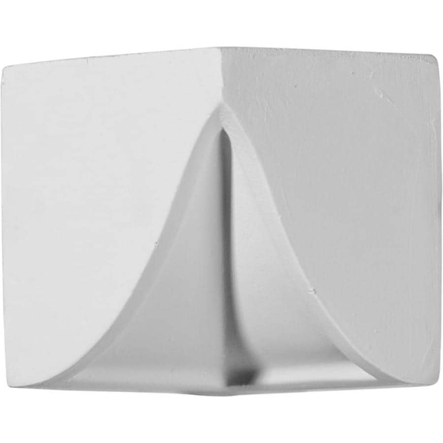 Ekena Millwork 3-in x 3-in Primed Polyurethane Inside Corner Crown Moulding Block