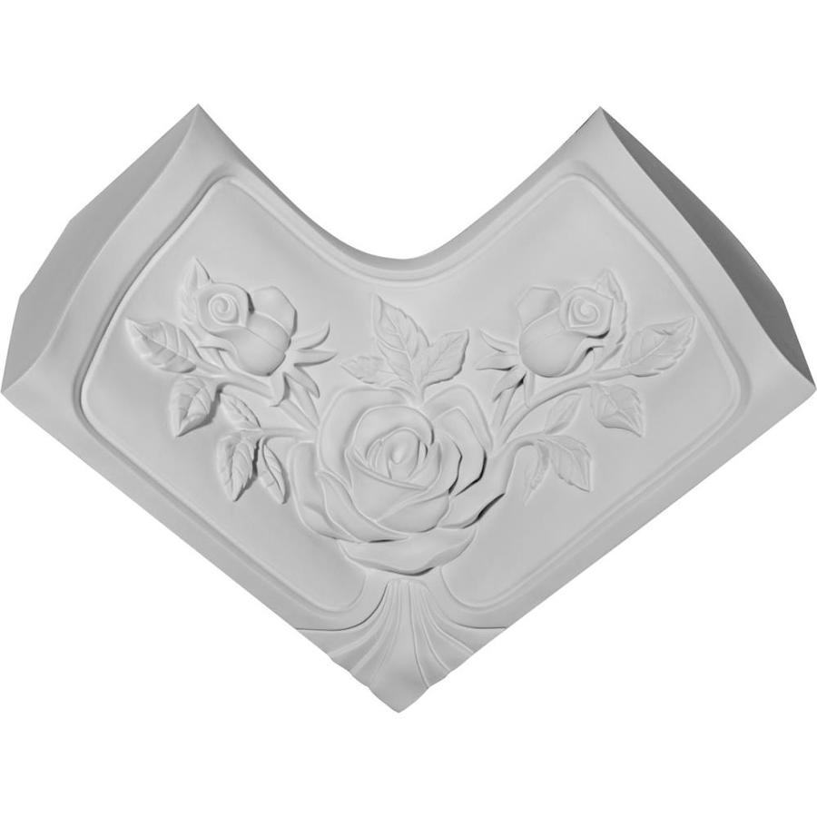 Ekena Millwork 4.125-in x 4.125-in Primed Polyurethane Inside Corner Crown Moulding Block