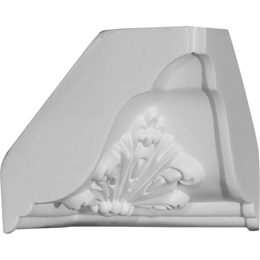 Ekena Millwork 4.625-in x 4.625-in Primed Polyurethane Inside Corner Crown Moulding Block