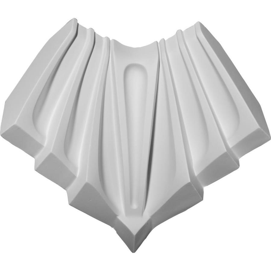 Ekena Millwork 4.125-in x 4.125-in Primed Polyurethane Inside Corner Crown Moulding Block