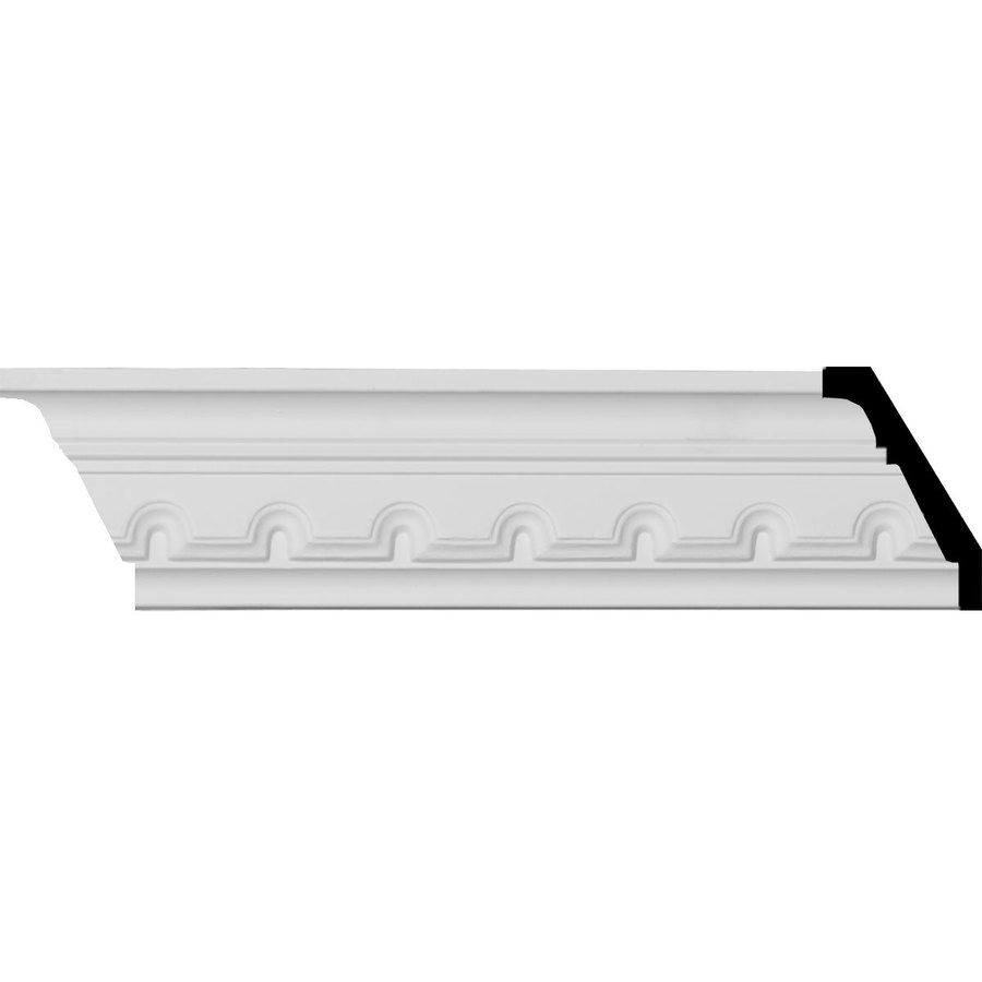 Ekena Millwork 2.875-in x 7.89-ft Primed Polyurethane Dentil Crown Moulding