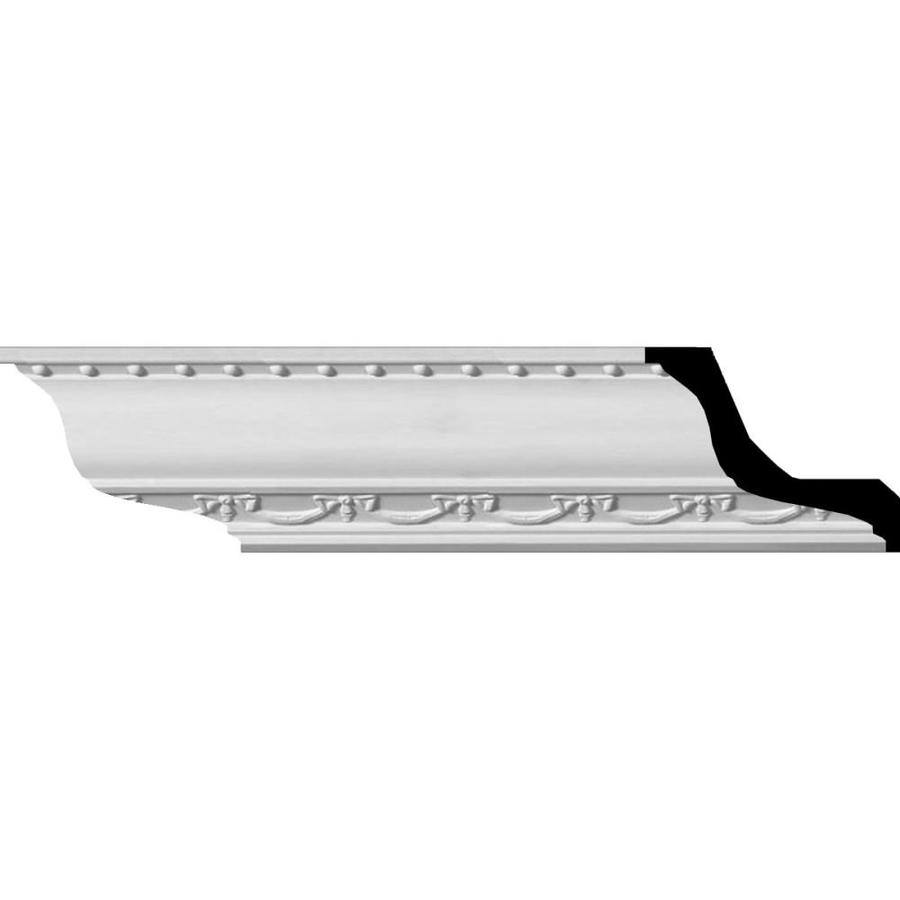 Ekena Millwork 2.375-in x 7.88-ft Primed Polyurethane Crown Moulding