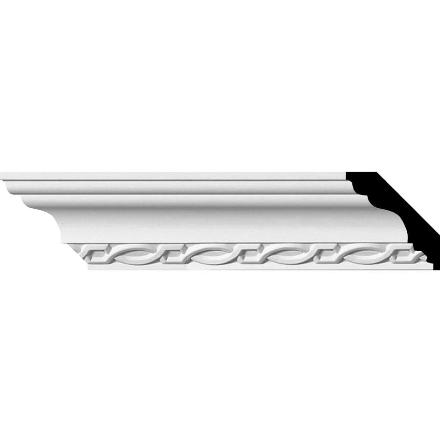 Ekena Millwork 2.5-in x 7.86-ft Polyurethane Loera Crown Moulding