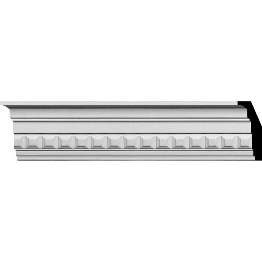 Ekena Millwork 3.5-in x 7.88-ft Primed Polyurethane Sequential Crown Moulding