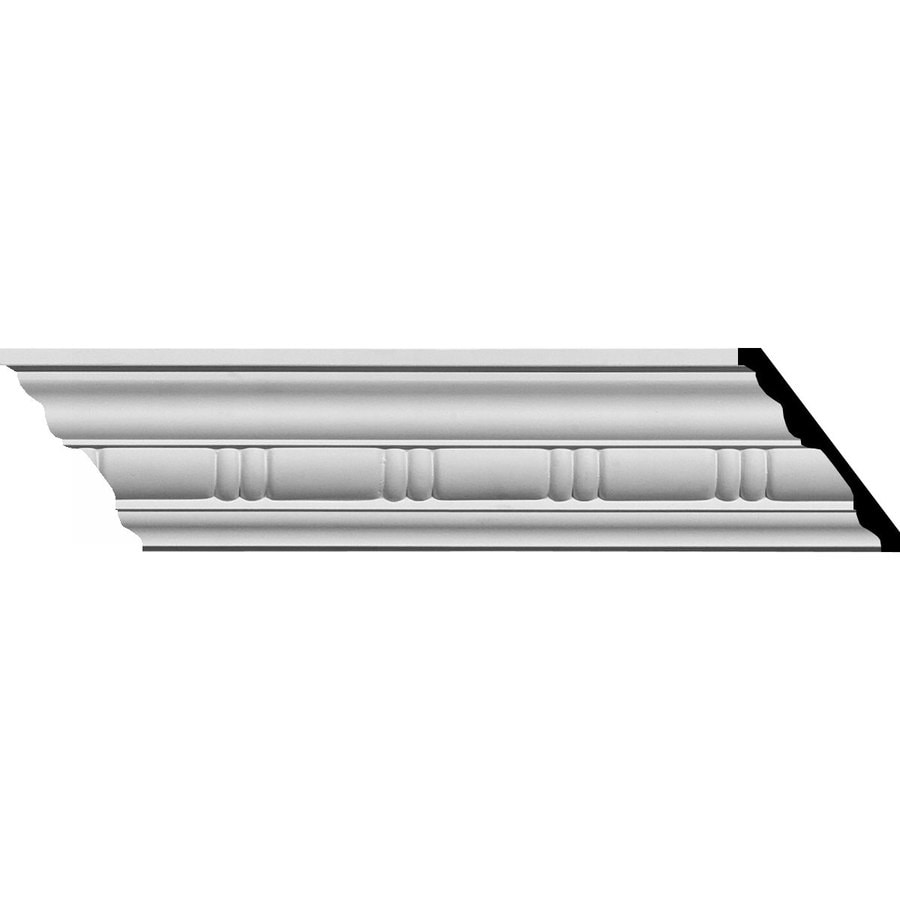 Ekena Millwork 3.125-in x 7.88-ft Primed Polyurethane Gorleen Crown Moulding