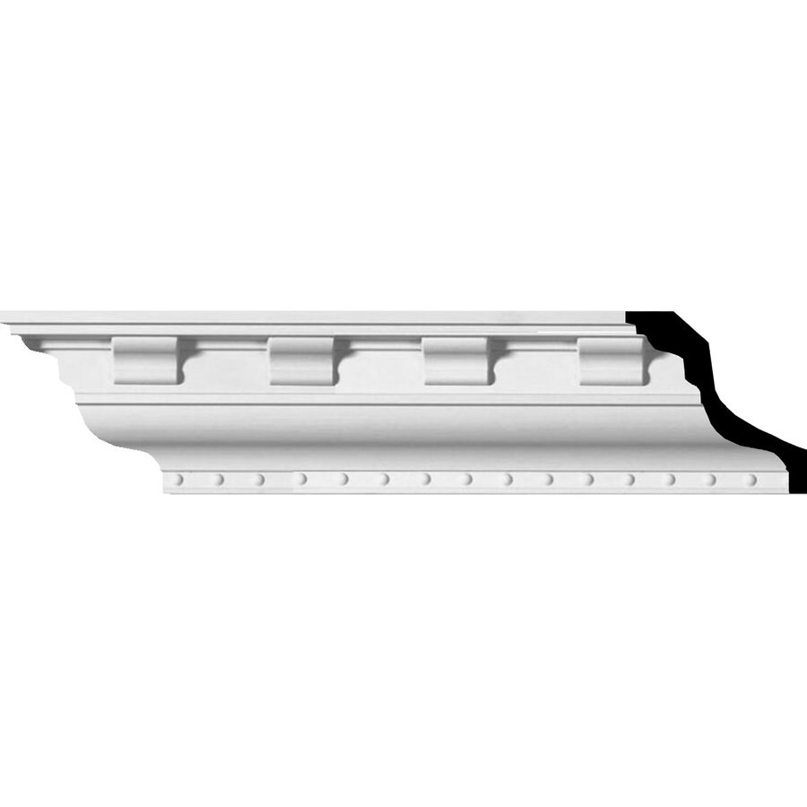 Ekena Millwork 3-in x 7.88-ft Primed Polyurethane Dentil Crown Moulding