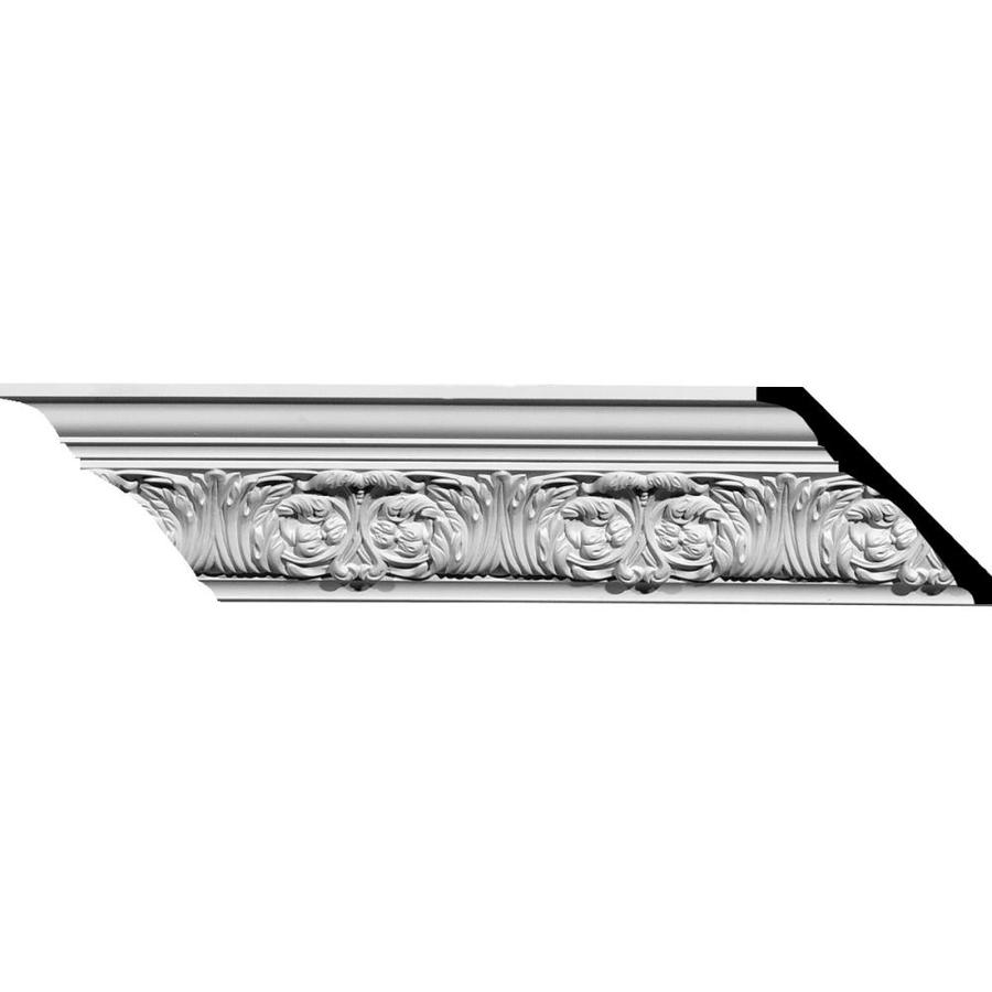 Ekena Millwork 3.75-in x 8-ft Primed Polyurethane Marcella Crown Moulding