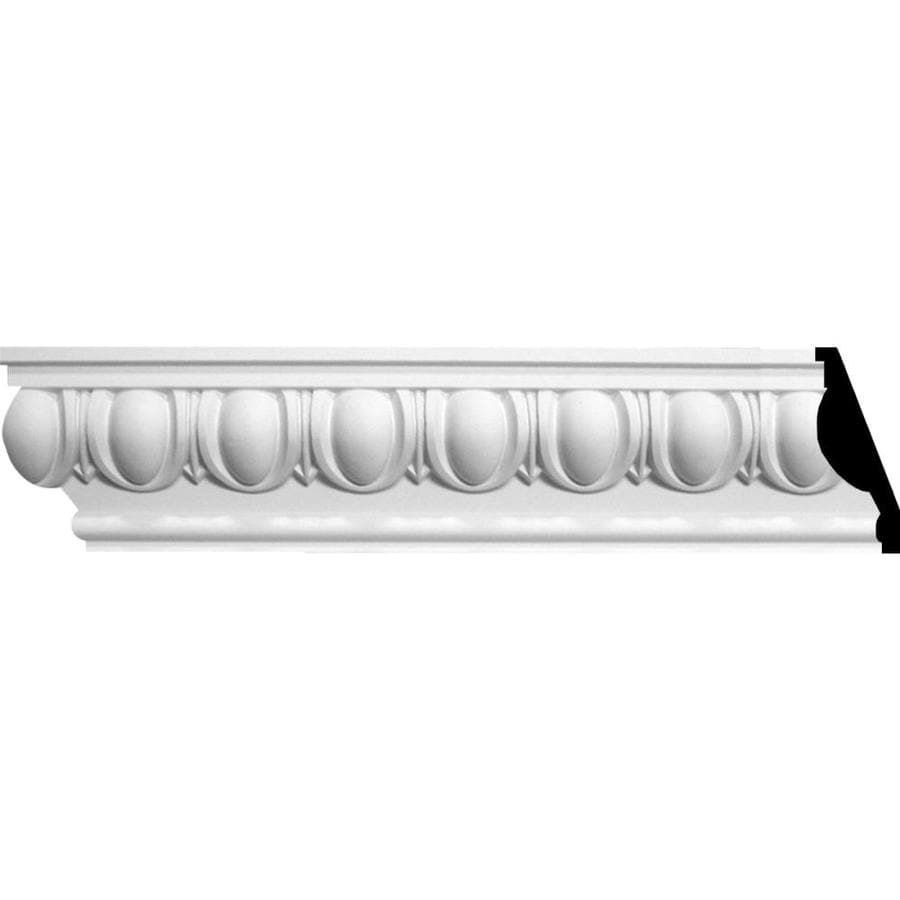 Ekena Millwork 4.75-in x 8-ft Primed Polyurethane Egg and Dart Crown Moulding