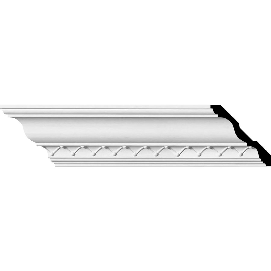 Ekena Millwork 4.25-in x 7.88-ft Primed Polyurethane Charlotte Crown Moulding