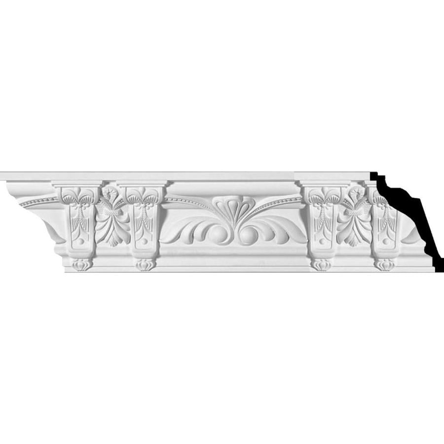 Ekena Millwork 4.875-in x 7.97-ft Primed Polyurethane Jonee Crown Moulding
