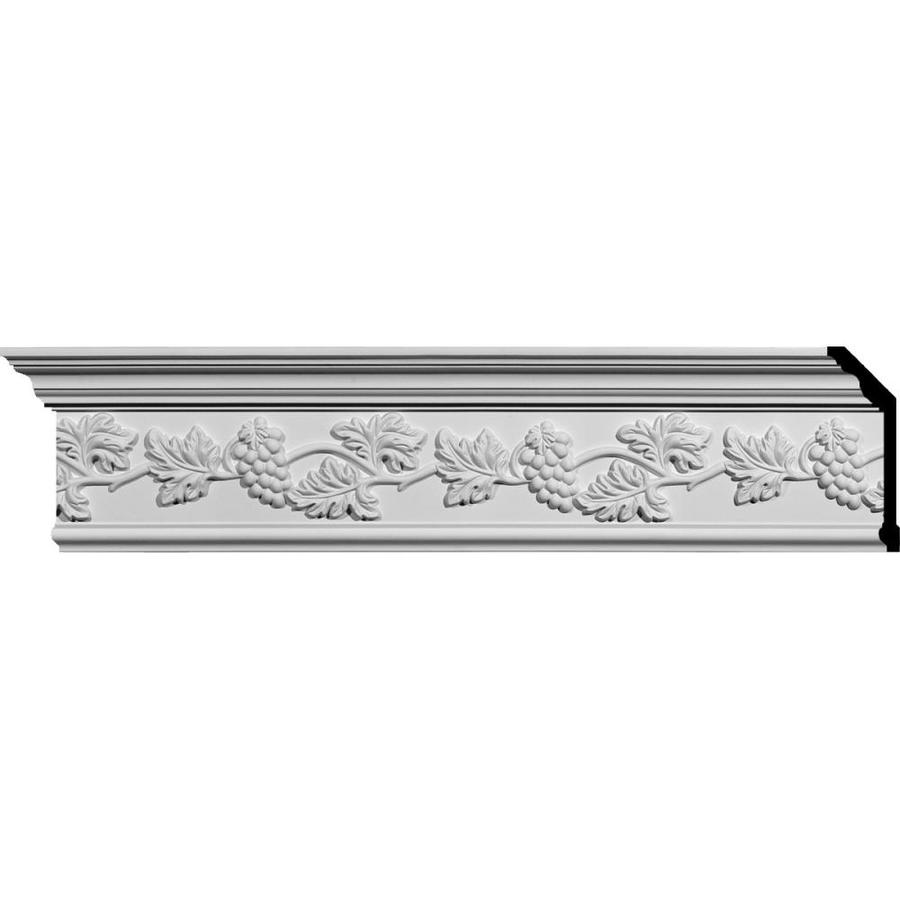 Ekena Millwork 7-in x 8-ft Primed Polyurethane Genevieve Crown Moulding