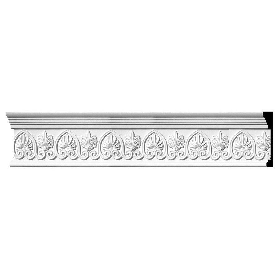 Ekena Millwork 7.75-in x 8-ft Primed Polyurethane Emery Crown Moulding