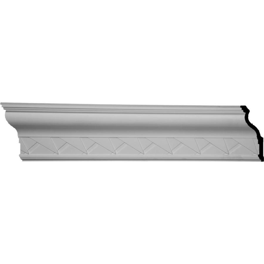 Ekena Millwork 9.125-in x 7.85-ft Primed Polyurethane ruff Crown Moulding