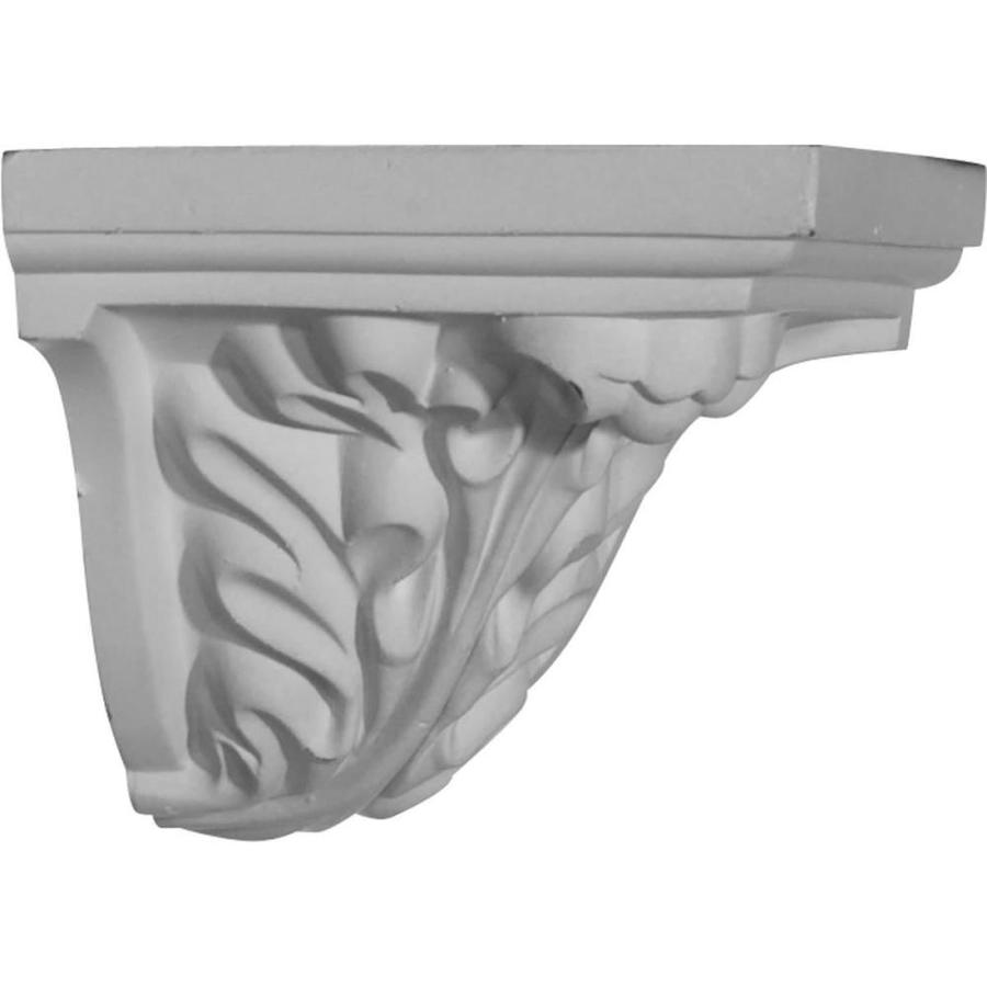 Ekena Millwork 3.625-in x 3.625-in Primed Polyurethane Outside Corner Crown Moulding Block