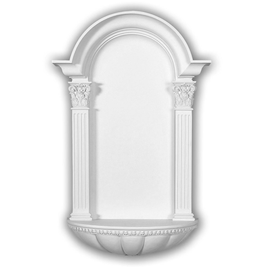 Ekena Millwork Egg and Dart Fluted 27.5-in x 42.25-in Polyurethane Niche