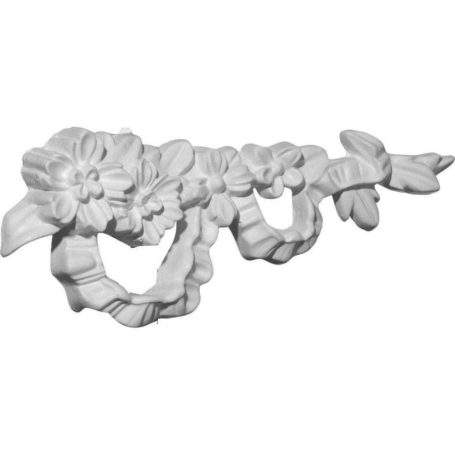 Ekena Millwork 7.75-in x 3-in Floral Primed Urethane Applique