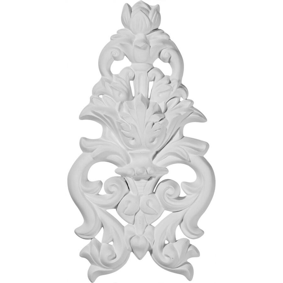 Ekena Millwork 4.875-in x 9.5-in Dauphine Primed Urethane Applique