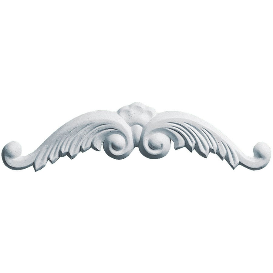 Ekena Millwork 9-in x 2-in Wings with Scroll Primed Urethane Applique