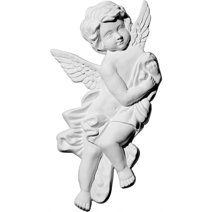 Ekena Millwork 10.625-in x 9.375-in Pompeii Angel Urethane Applique