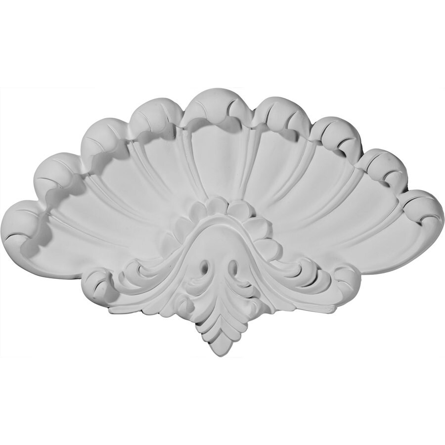 Ekena Millwork 15-in x 9.25-in Sea Shell Urethane Applique