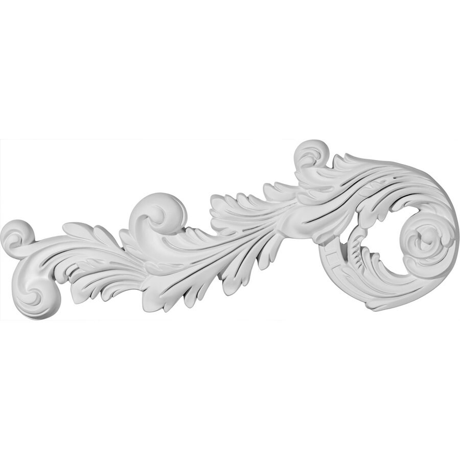 Ekena Millwork 17.75-in x 7.375-in Paris Scroll Urethane Applique