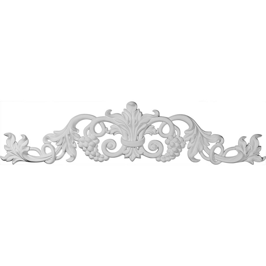 Ekena Millwork 39-in x 8.875-in Grape and Leaf with Scrolls Urethane Applique