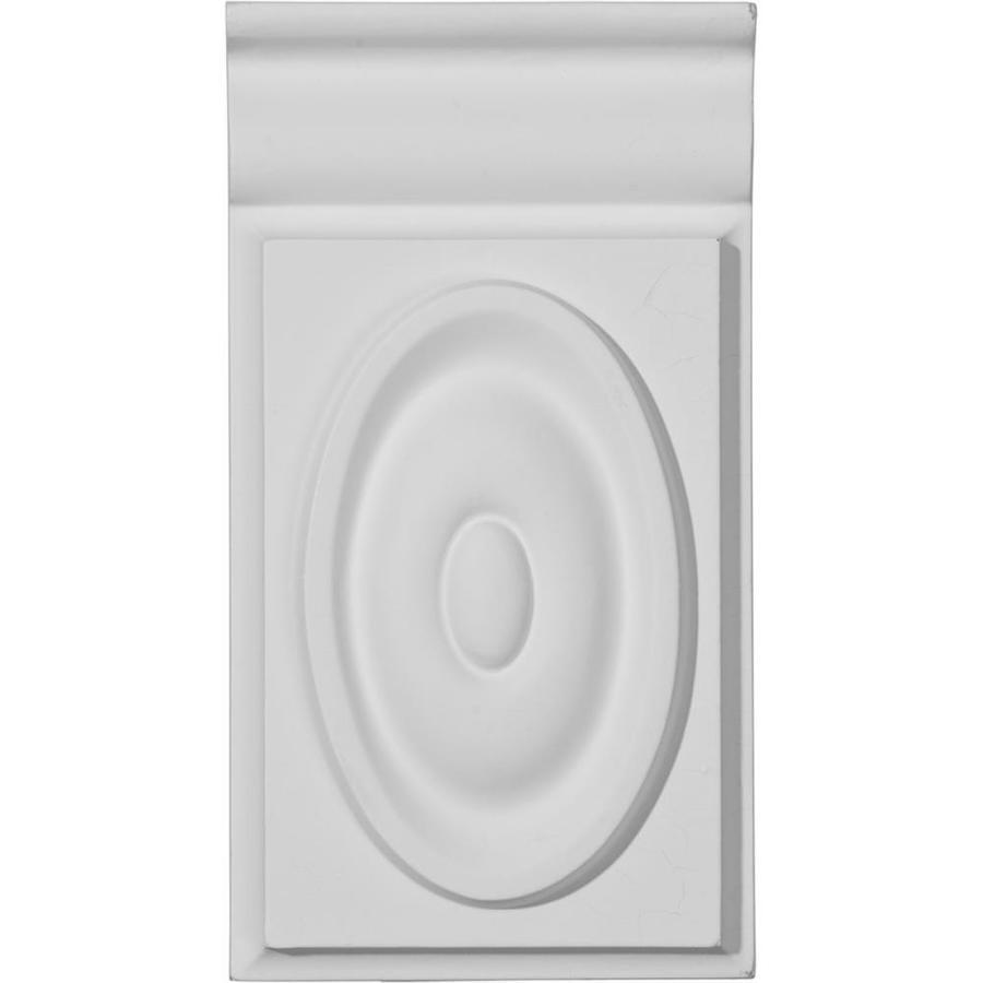 Ekena Millwork Giana 3.75-in x 7-in Primed Polyurethane Plinth