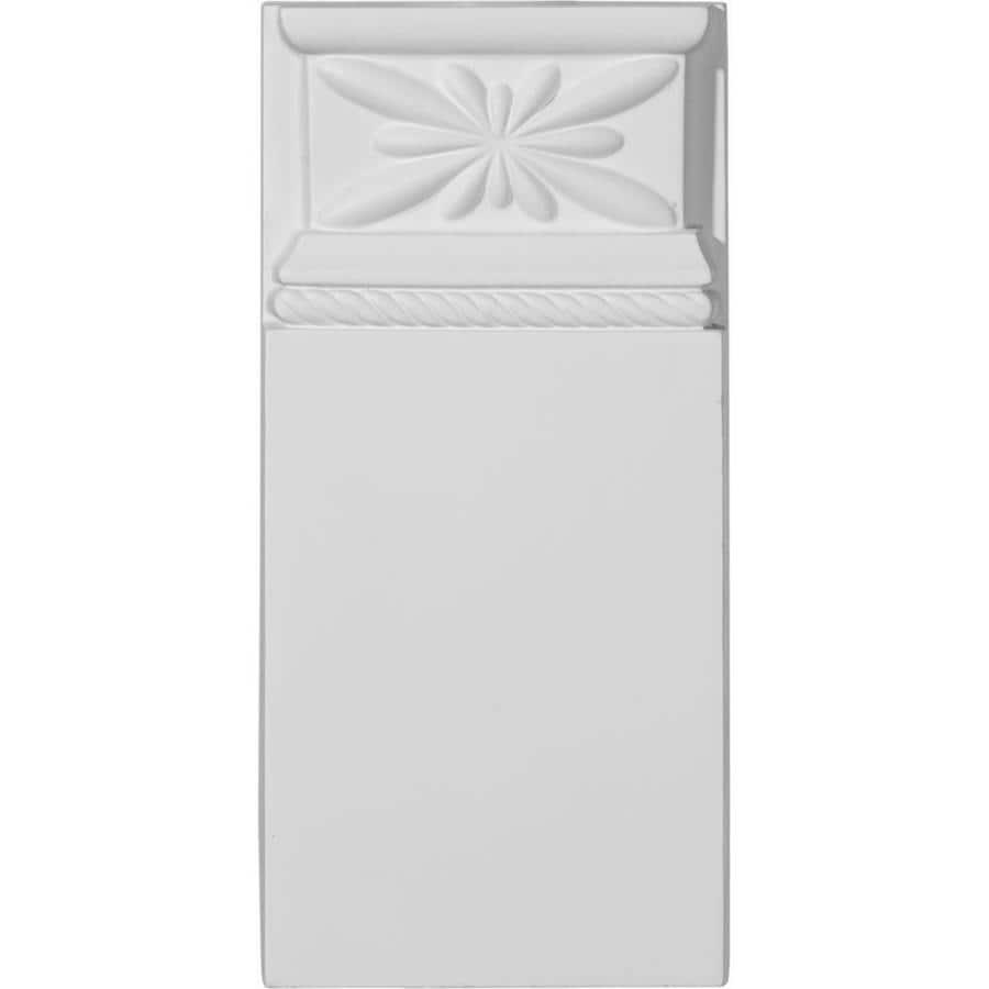 Ekena Millwork Bradford 4.375-in x 9.125-in Primed Polyurethane Plinth