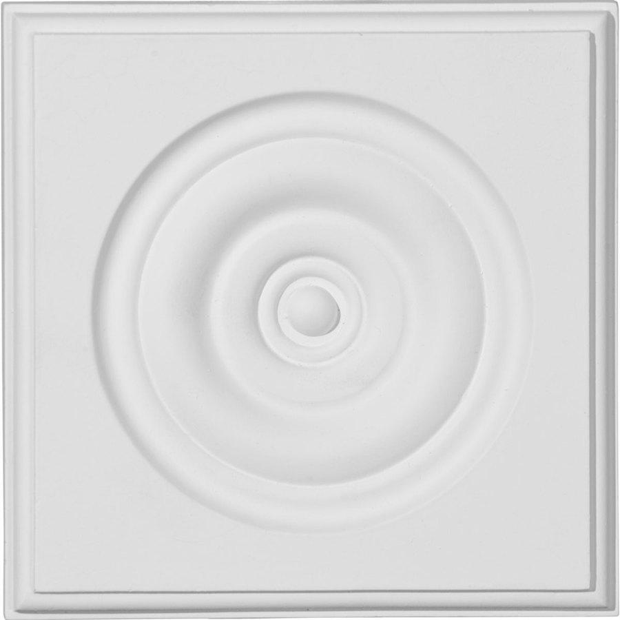 Ekena Millwork Traditional Bullseye 5.75-in x 5.75-in Polyurethane Plinth