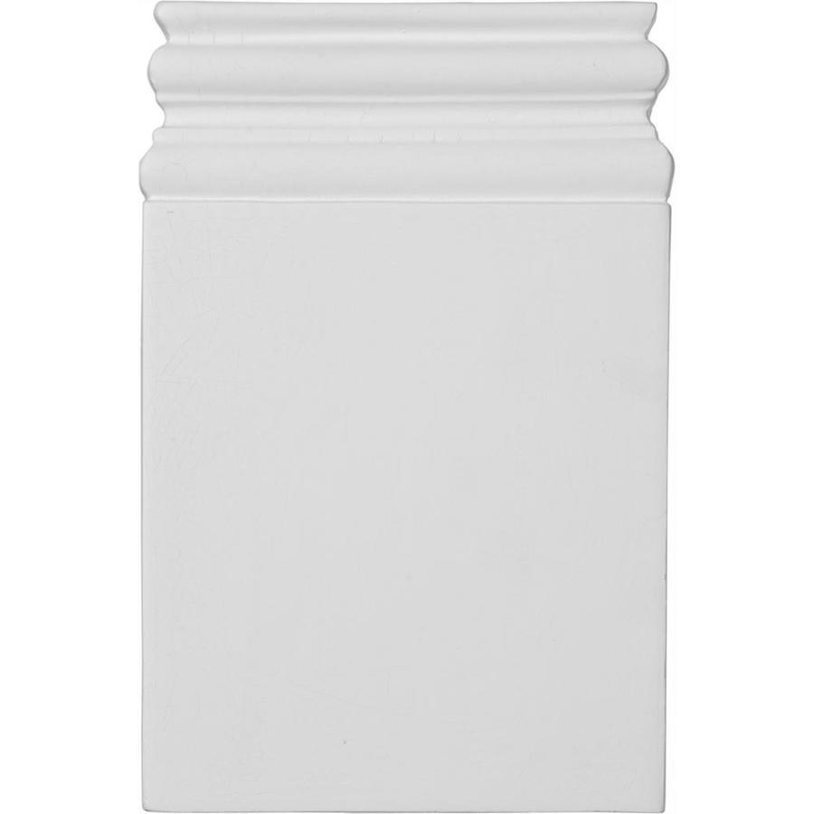 Ekena Millwork Diane 6.25-in x 9.75-in Primed Polyurethane Plinth