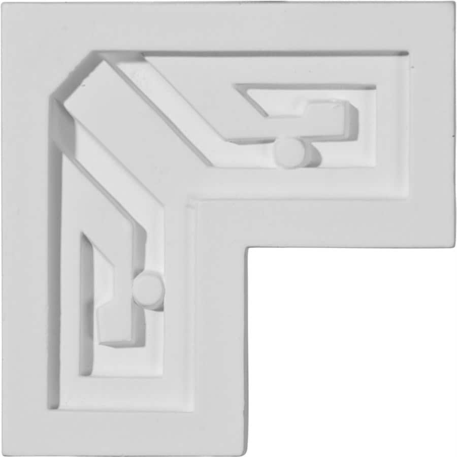 Ekena Millwork 3.375-in x 0.28-ft Primed Polyurethane Corner Panel Picture Frame Moulding